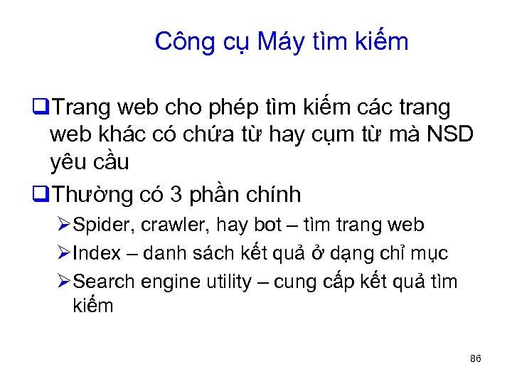 Công cụ Máy tìm kiếm q. Trang web cho phép tìm kiếm các trang