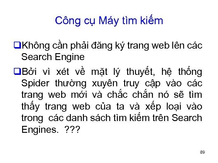 Công cụ Máy tìm kiếm q. Không cần phải đăng ký trang web lên
