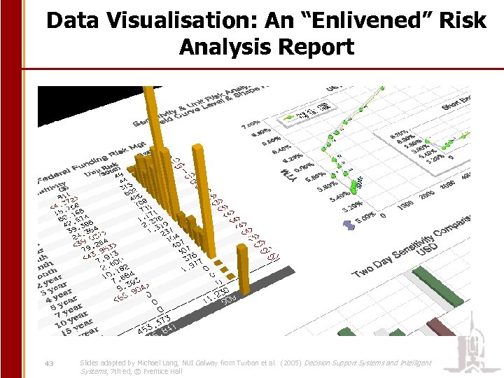"""Data Visualisation: An """"Enlivened"""" Risk Analysis Report 43 Slides adapted by Michael Lang, NUI"""
