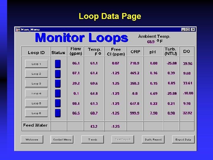 Loop Data Page