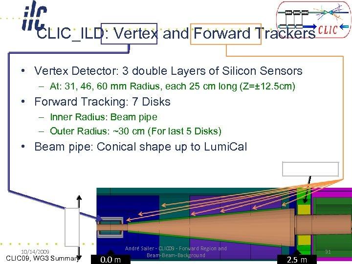 CLIC_ILD: Vertex and Forward Trackers • Vertex Detector: 3 double Layers of Silicon Sensors