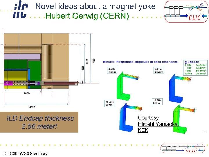 Novel ideas about a magnet yoke Hubert Gerwig (CERN) ILD Endcap thickness 2. 56