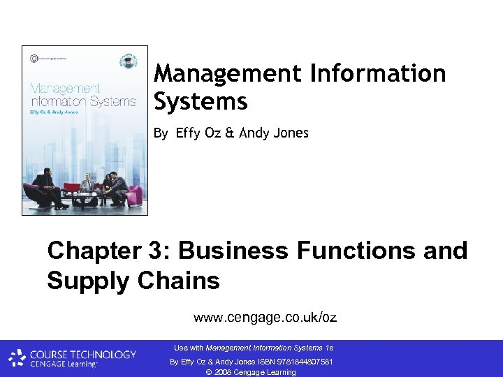 Management Information Systems By Effy Oz & Andy Jones Chapter 3: Business Functions and