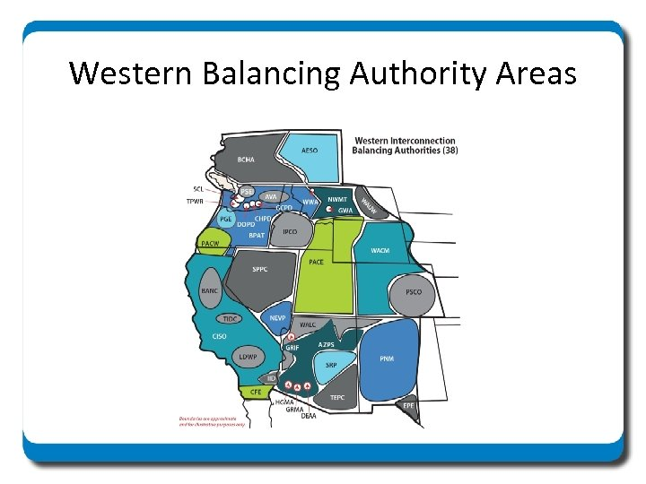 Western Balancing Authority Areas