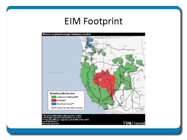 EIM Footprint