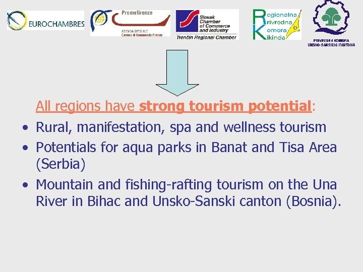 All regions have strong tourism potential: • Rural, manifestation, spa and wellness tourism •