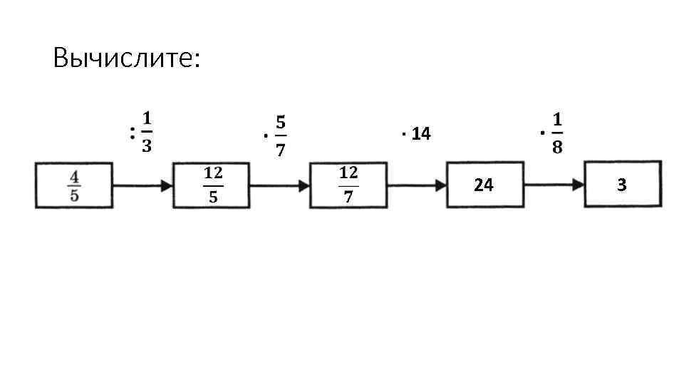 Вычислите: ∙ 14 24 3