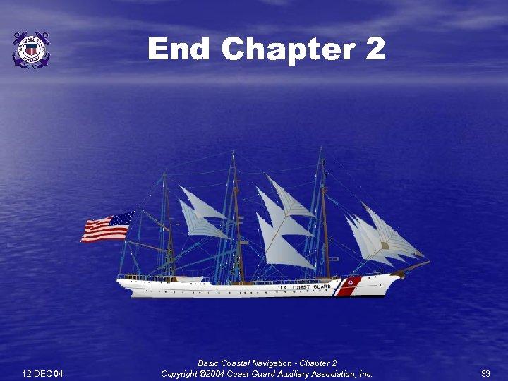 End Chapter 2 12 DEC 04 Basic Coastal Navigation - Chapter 2 Copyright ©