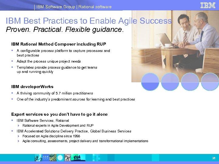 IBM Software Group | Rational software IBM Best Practices to Enable Agile Success Proven.