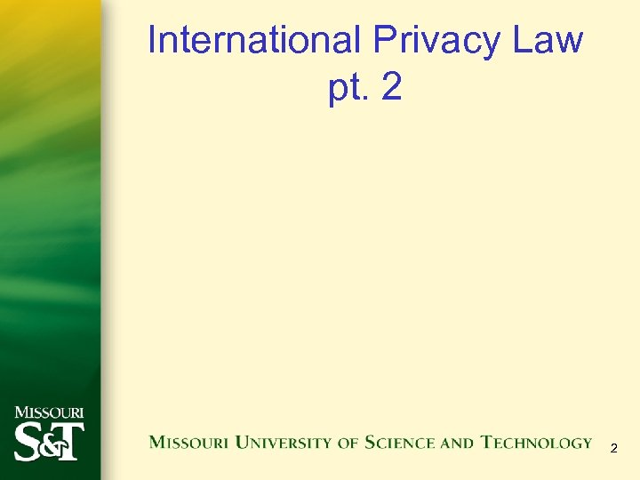 International Privacy Law pt. 2 2