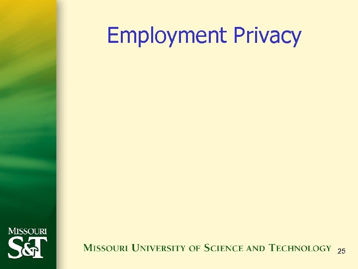 Employment Privacy 25