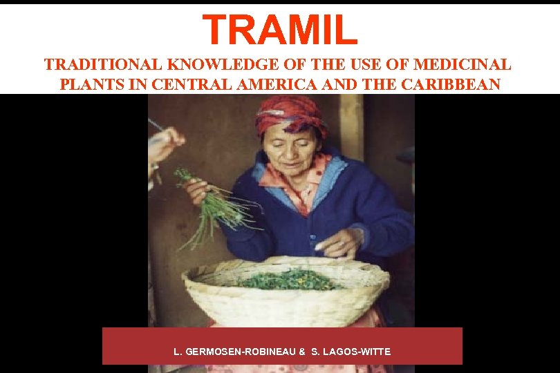 TRAMIL TRADITIONAL KNOWLEDGE OF THE USE OF MEDICINAL PLANTS IN CENTRAL AMERICA AND THE