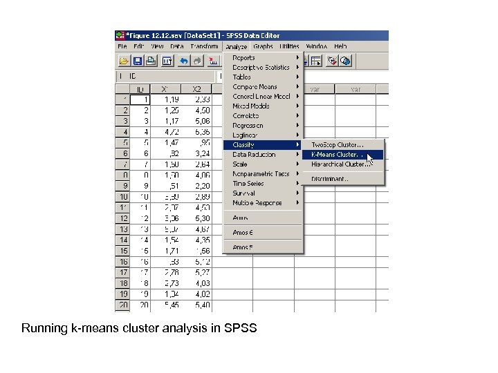 Running k-means cluster analysis in SPSS