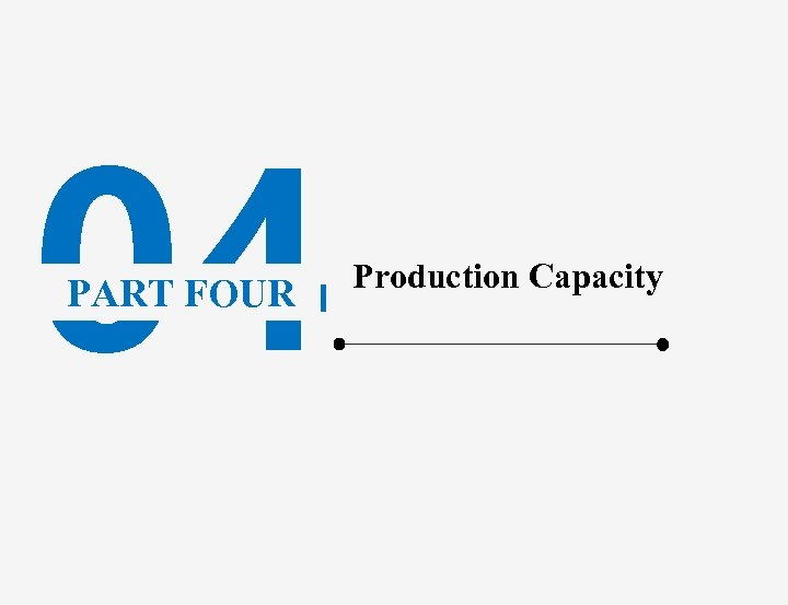 04 PART FOUR Production Capacity