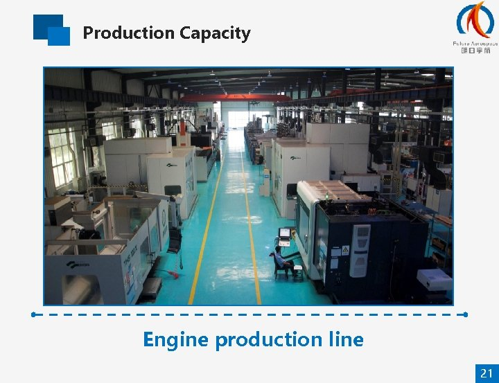 Production Capacity Engine production line 21