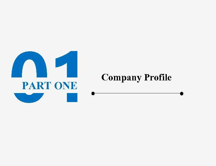 01 PART ONE Company Profile