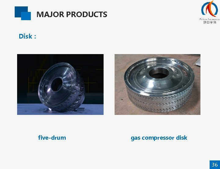 MAJOR PRODUCTS Disk: five-drum gas compressor disk 36