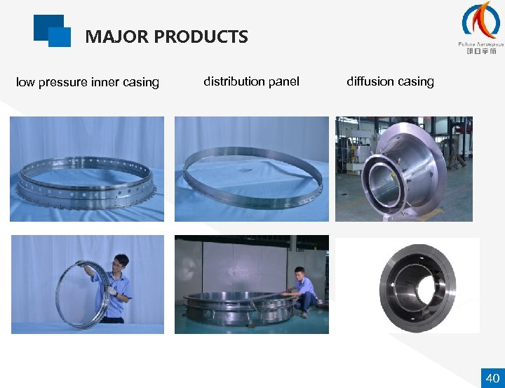 MAJOR PRODUCTS low pressure inner casing distribution panel diffusion casing 40