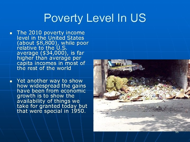 Poverty Level In US n n The 2010 poverty income level in the United
