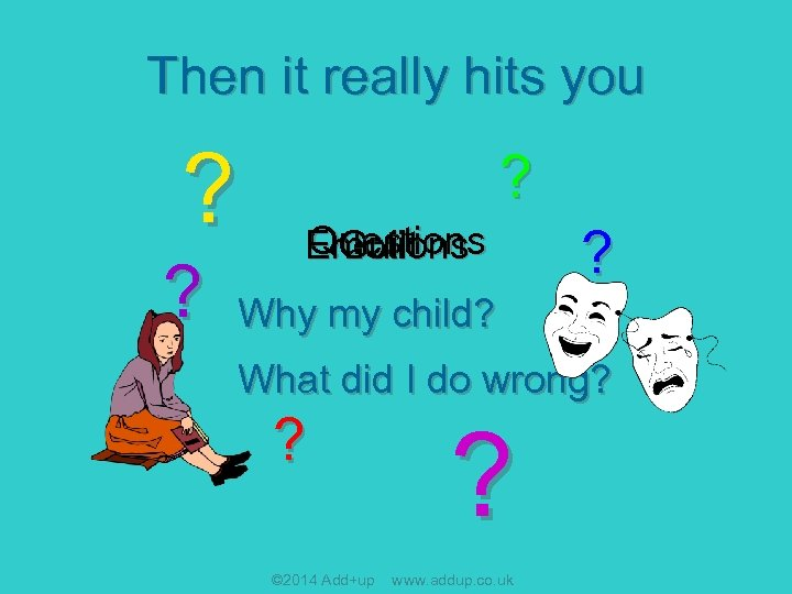 Then it really hits you ? ? ? Questions Guilt Emotions ? Why my