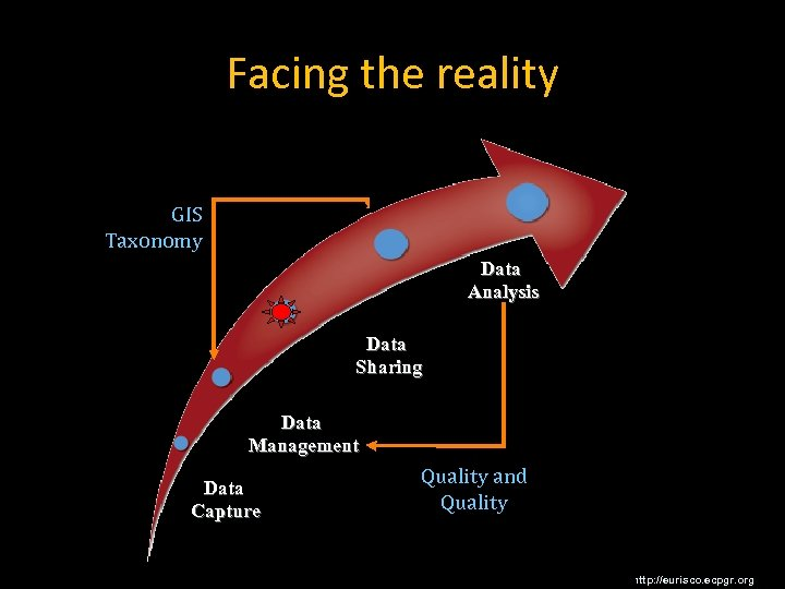 Facing the reality GIS Taxonomy Data Analysis Data Sharing Data Management Data Capture Quality