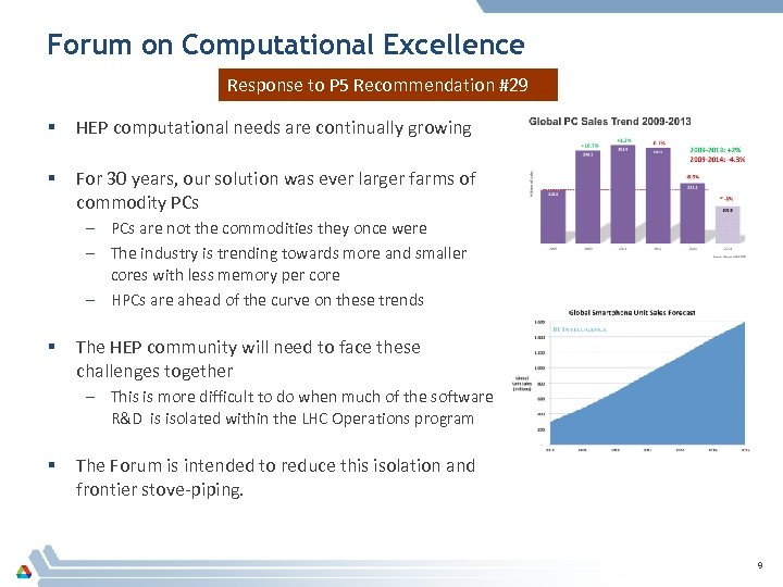 Forum on Computational Excellence Response to P 5 Recommendation #29 § HEP computational needs
