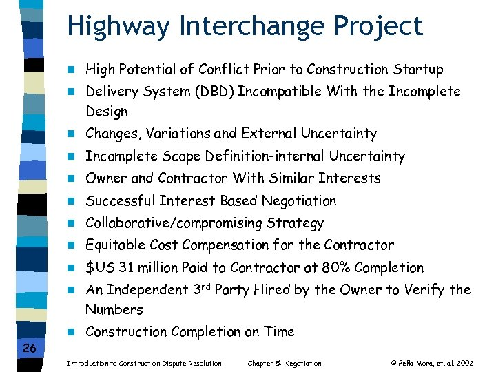 Highway Interchange Project n n Delivery System (DBD) Incompatible With the Incomplete Design n
