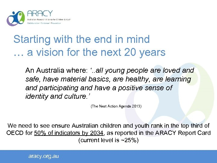 Starting with the end in mind … a vision for the next 20 years