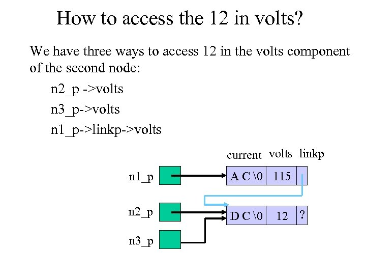How to access the 12 in volts? We have three ways to access 12