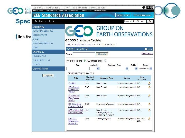 Special Arrangements (link from http: //geossregistries. info)
