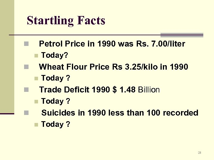 Startling Facts Petrol Price in 1990 was Rs. 7. 00/liter n n Today? Wheat