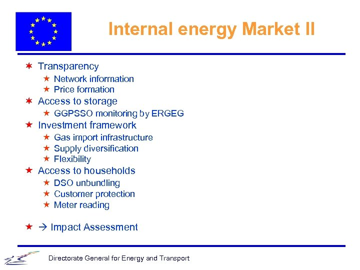 Internal energy Market II ¬ Transparency « Network information « Price formation ¬ Access