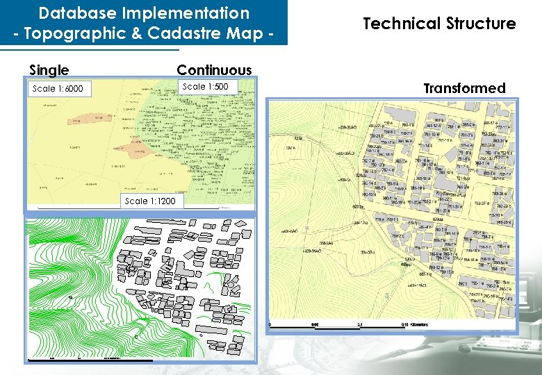 Database Implementation - Topographic & Cadastre Map Single Continuous Scale 1: 500 Scale 1: