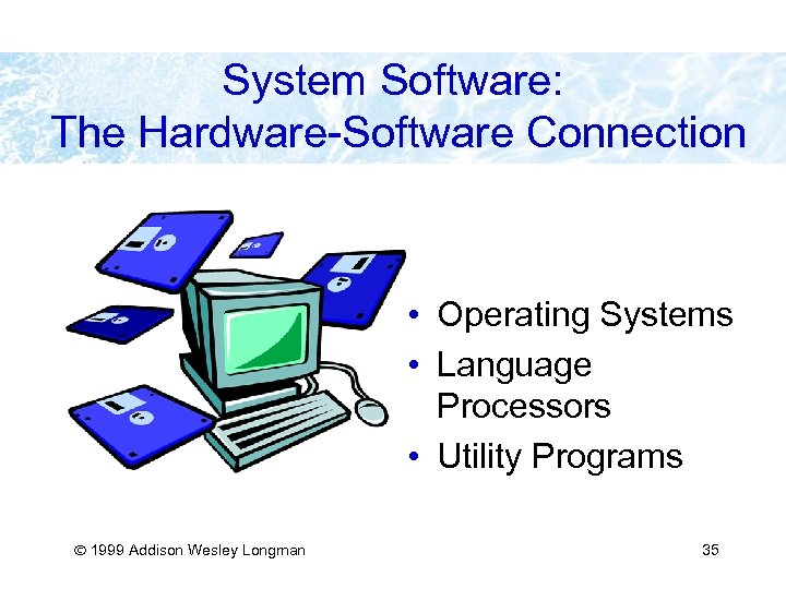 System Software: The Hardware-Software Connection • Operating Systems • Language Processors • Utility Programs