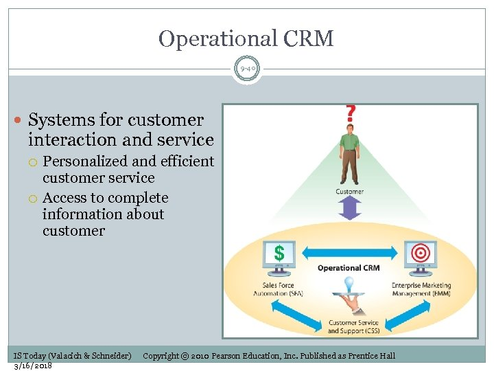 Operational CRM 9 -40 Systems for customer interaction and service Personalized and efficient customer