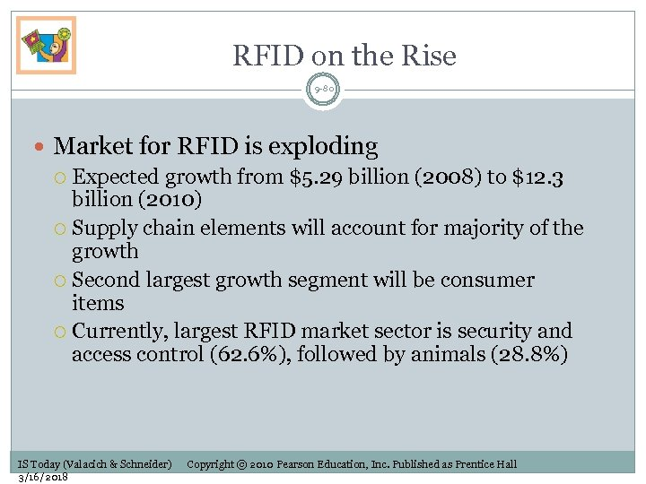 RFID on the Rise 9 -80 Market for RFID is exploding Expected growth from