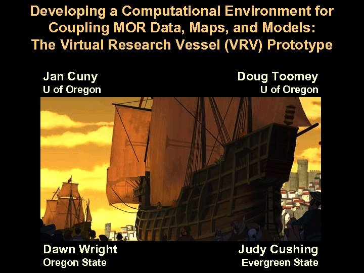 Developing a Computational Environment for Coupling MOR Data, Maps, and Models: The Virtual Research