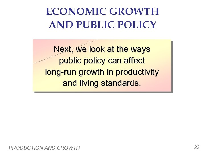 economic growth and public policy of the Why are politicians ignoring the math and the desire of the american public a recent gallup pollfound that out of a list of 12 policy issues, americans cited restoring a strong economy and job.