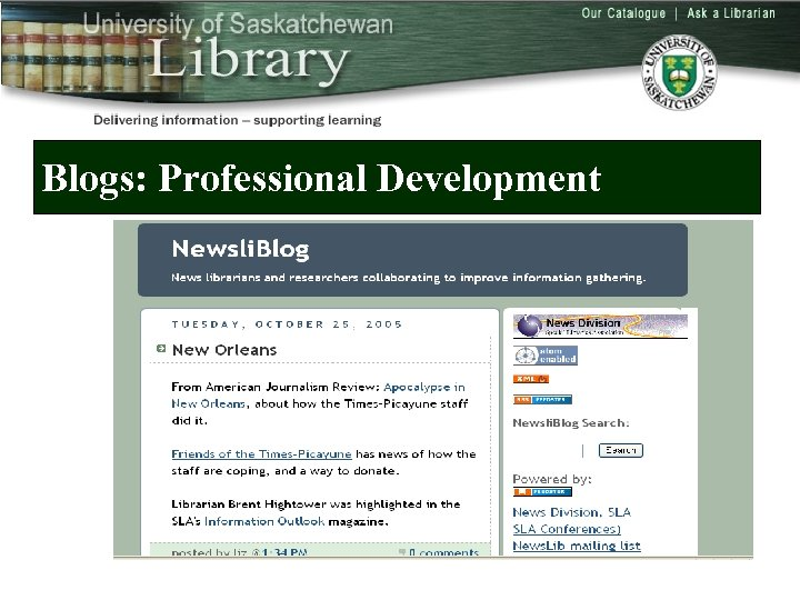 Blogs: Professional Development