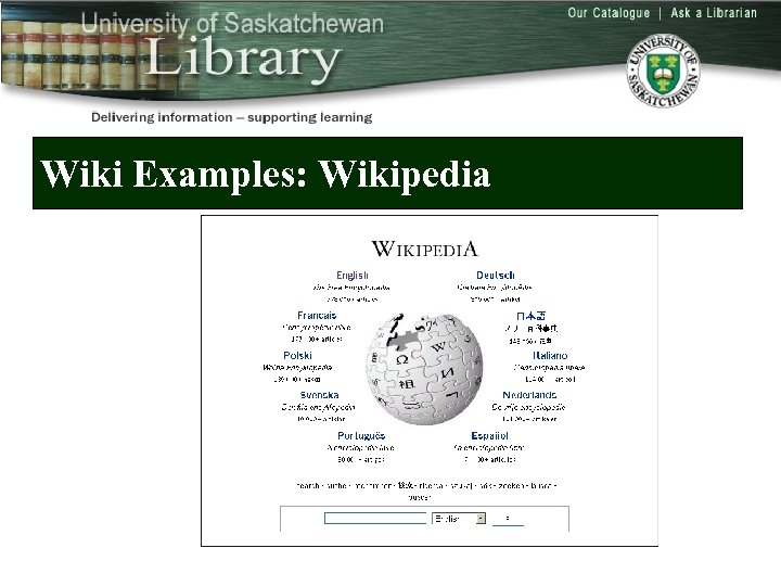 Wiki Examples: Wikipedia