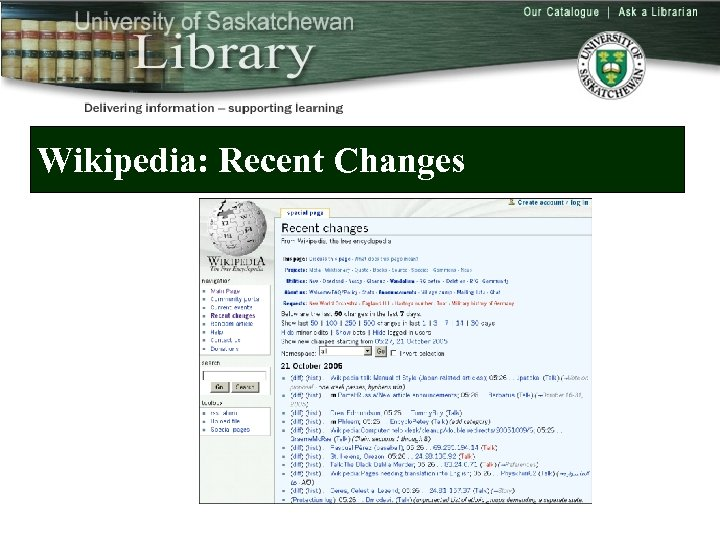 Wikipedia: Recent Changes