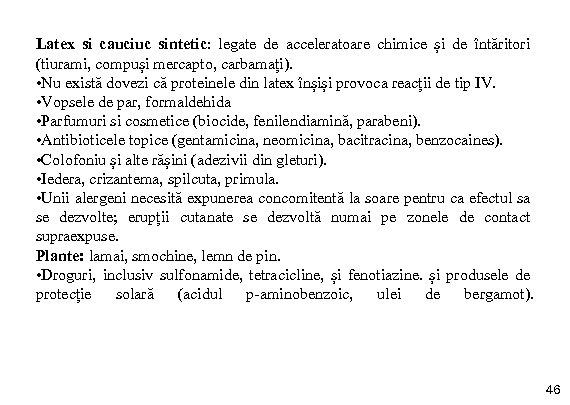 Latex si cauciuc sintetic: legate de acceleratoare chimice și de întăritori (tiurami, compuși mercapto,