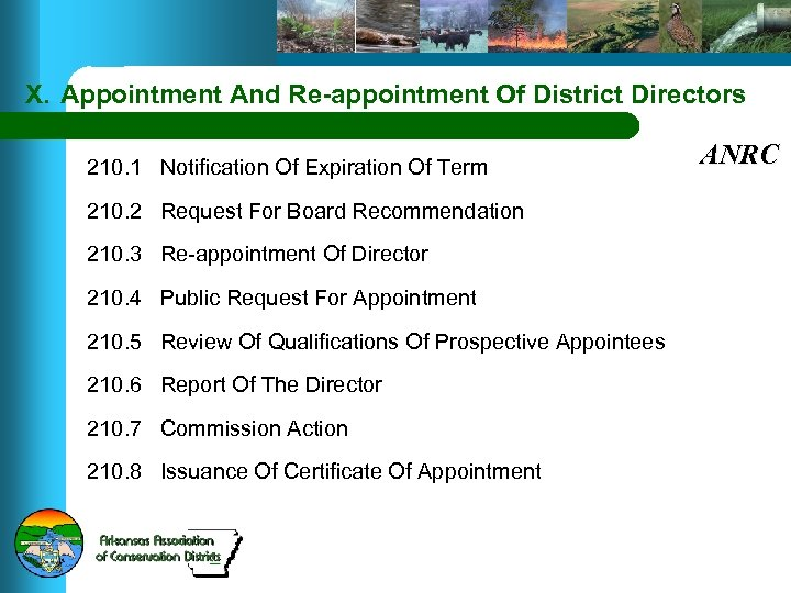 X. Appointment And Re-appointment Of District Directors 210. 1 Notification Of Expiration Of Term