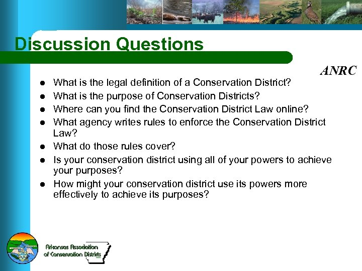 Discussion Questions ANRC l l l l What is the legal definition of a
