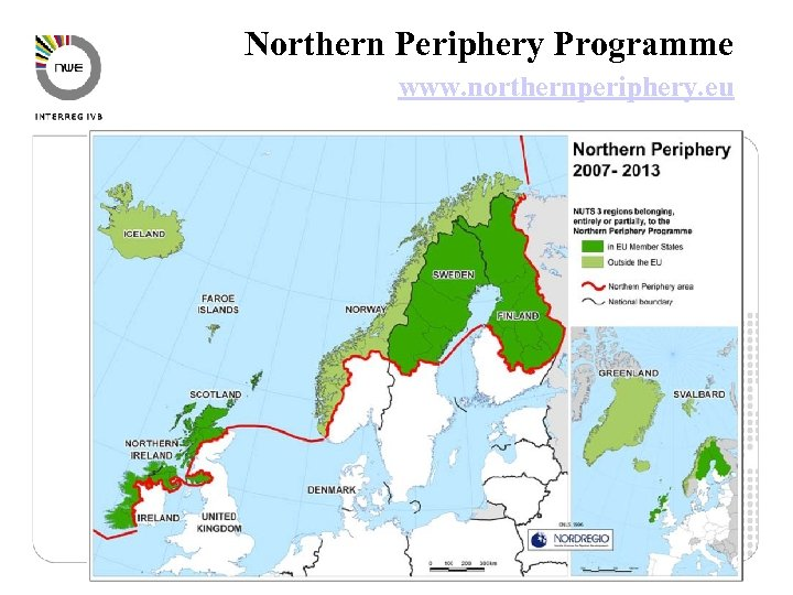 Northern Periphery Programme www. northernperiphery. eu