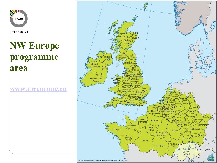 NW Europe programme area www. nweurope. eu