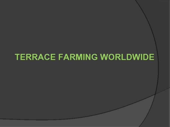 TERRACE FARMING WORLDWIDE