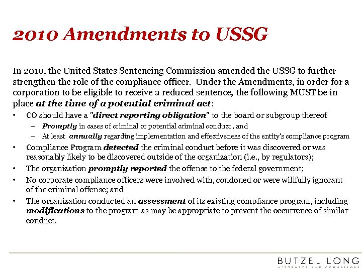 2010 Amendments to USSG In 2010, the United States Sentencing Commission amended the USSG