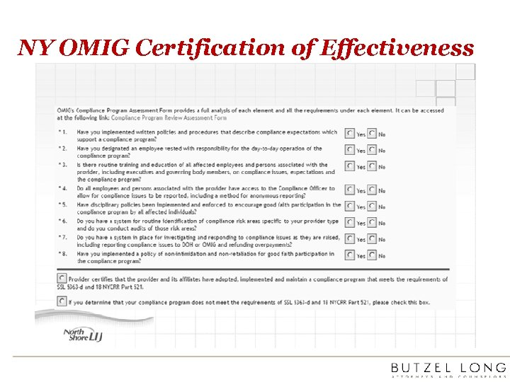 NY OMIG Certification of Effectiveness