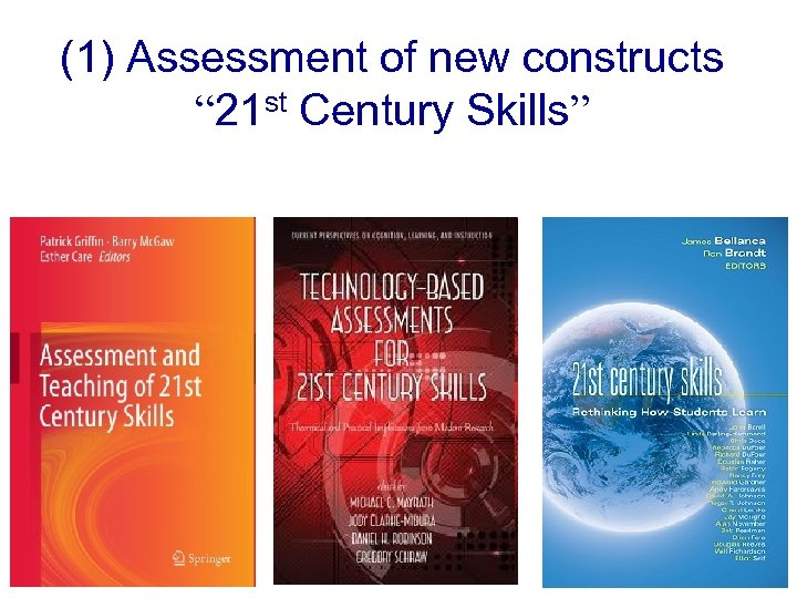 "(1) Assessment of new constructs "" 21 st Century Skills"""